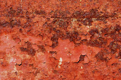 Rusted beckground. Detail of a rusted surface royalty free stock photo