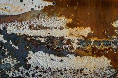 Rusted bedeckte Farbe Texturhintergrund mit Blasen Stockfoto