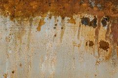 Rusted bedeckte Farbe Texturhintergrund mit Blasen Stockfotos