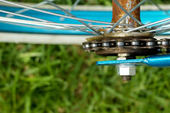 Rusted bicycle hub and sprocket Royalty Free Stock Photography