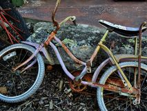 Rusted bicycle Stock Photo