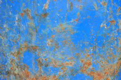 Rusted Blue Iron. Close Up Texture of Blue Rusted Iron Stock Photography