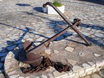 Rusted Boat Anchor Royalty Free Stock Photography
