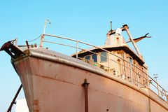 Rusted boat restoration Stock Image