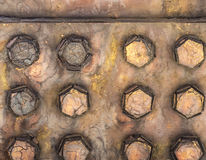 Rusted bolts on bridge Royalty Free Stock Image