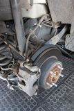 The Rusted Brake Disk Of A Car stock image