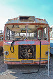 Rusted, broken down old bus. Stock Photography