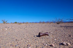 Rusted Can in the Desert Stock Photo