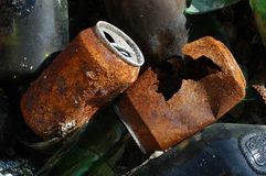 Rusted cans Stock Images