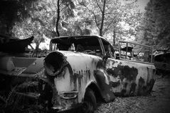Rusted car royalty free stock images