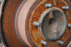 Rusted car brake disc Stock Photography
