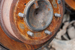 Rusted car brake disc Royalty Free Stock Image