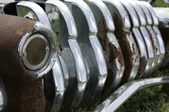 Rusted Car Bumper Royalty Free Stock Photography