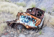Rusted Car Chassis: Tagged Stock Photo