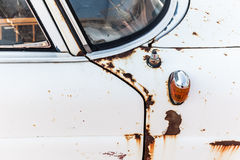 Rusted car. Detail of an old rusted car Stock Image