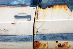 Rusted car Doors Royalty Free Stock Images