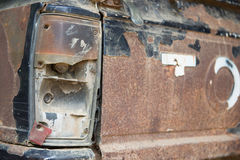 Rusted car old pickup in Parking Royalty Free Stock Images