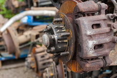 Rusted car parts Stock Image