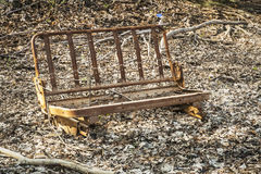 Rusted car seat Stock Photography