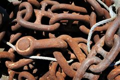Rusted chain Stock Photography