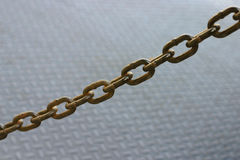 Rusted Chain. On futuristic background / non-slip platform Stock Image
