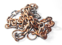Rusted chain Royalty Free Stock Images