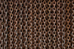 Rusted chains background. Rusted old big chains background Royalty Free Stock Image