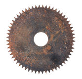 Rusted circular saw isolated Stock Images