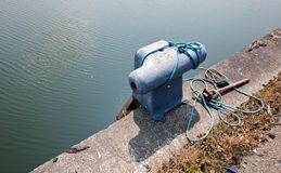 Rusted Cleat on dock Stock Image