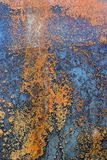 Rusted corroded background. Abstract closeup of a heavily decayed and rusting truck exterior Stock Photo