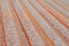 Rusted corrugated galvanized iron plate on natural light Stock Image