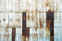 Rusted Corrugated Industrial Siding Royalty Free Stock Images
