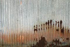 Rusted Corrugated Iron Plate Wall Background royalty free stock image