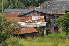 Rusty old barns Royalty Free Stock Photo