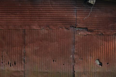 Rusted corrugated metal Royalty Free Stock Images