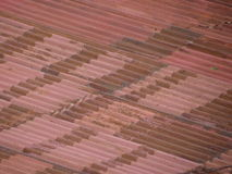Rusted corrugated steel background Royalty Free Stock Photos