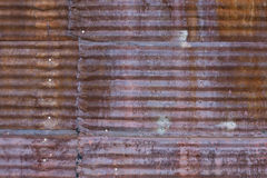 Rusted Corrugated Steel Panel. Texture of old rusted corrugated steel panel Royalty Free Stock Images