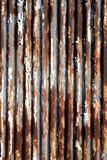 Rusted corrugou o metal Fotografia de Stock Royalty Free