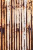 Rusted corrugou o metal Imagens de Stock