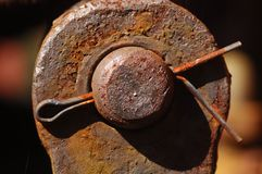 Rusted Cotter Pin Stock Image