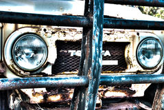 Rusted Cruiser. Rusted weather beaten toyota land cruiser Royalty Free Stock Photo