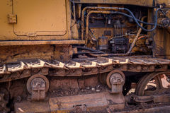 Rusted Dirt Covered Industrial Machine Royalty Free Stock Images