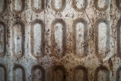 Rusted dirty scratched metal textured background Royalty Free Stock Images