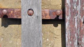 Rusted and Distressed: Abstract of Park Bench Stock Photography