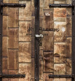 Rusted Door. Old door in a back alley in down town Chickasha Stock Images
