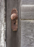 Rusted Doorknob With Keyhole Stock Images