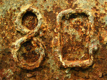 Rusted eighty Royalty Free Stock Photo