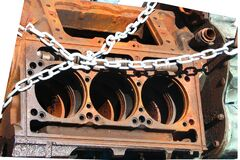 rusted engine block Stock Photos