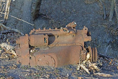 A Rusted Engine Block Royalty Free Stock Photos