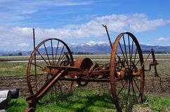 Rusted farm implement Royalty Free Stock Photo